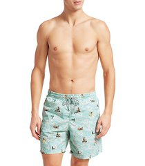 collection hawaiian surfer swim trunks