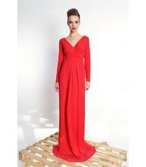 steffany maxi - długa suknia z udrapowaniem
