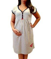 camisola linda gestante maternidade e amamentação três corações feminina
