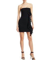 nat tassel & ruffle mini dress