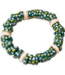 akola women's goldtone egypt beads bracelet