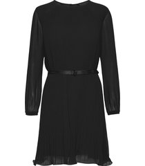 ls plisse dress dresses cocktail dresses zwart calvin klein