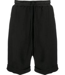 alchemy drop-crotch cotton-blend shorts - black