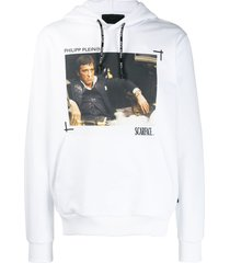 philipp plein scarface hoodie - white
