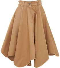 j.w. anderson tobacco cotton skirt