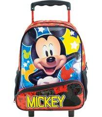 mochila de rodinhas xeryus 16 mickey hey mickey! vermelho - vermelho - menino - dafiti