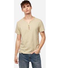 camiseta con cuello en v liso informal de verano para hombre