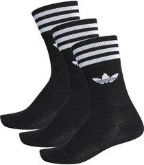 solid crew socks - black s21490