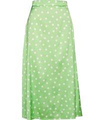 mellie dots skirt knälång kjol grön aéryne