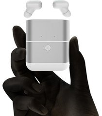 audífonos inalámbricos bluetooth con micrófono y caja de carga -blanco