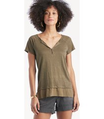 sanctuary women's flirt mix tee in color: fatigue size large from sole society