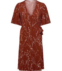 kalviniw wrap dress knälång klänning röd inwear
