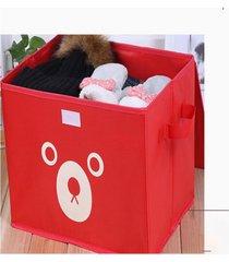 espesar soportar impresión de tela oxford caja de almacenamiento de juguete rojo organizador de almacenaje de ropa