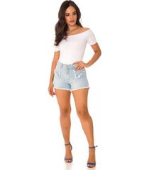 shorts jeans express hot pants ágata feminino