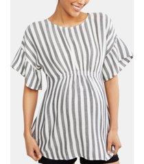 motherhood maternity smocked blouse