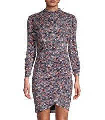 rebecca taylor women's twilight floral dress - dark navy - size xs