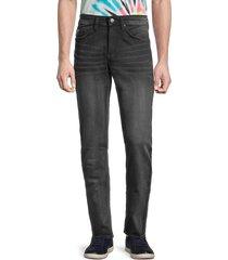 buffalo david bitton men's ash-x slim-fit denim jeans - dark grey - size 34 32