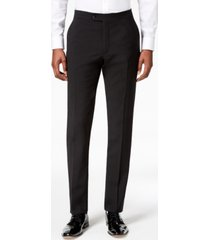 tommy hilfiger men's modern-fit flex stretch black tuxedo pants