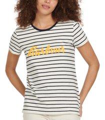 barbour keilder striped logo t-shirt
