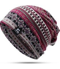 cappello da donna antivento caldo con berretto a toppa casual da donna stampato