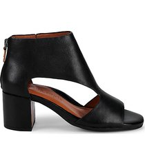 charlene leather peep-toe booties