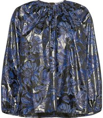 assembly shirt blouse lange mouwen blauw hope