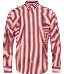 d1. crisp cotton stripe hugger bd overhemd casual rood gant