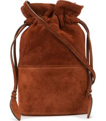 hunting season small lola bucket bag - brown