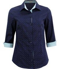 camisa intens manga 3/4 algodão azul