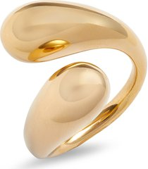 soko twisted dash ring, size 7 in gold at nordstrom