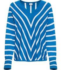 maglione lungo a righe (blu) - rainbow