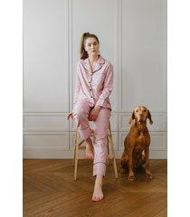 klasyczna piżama brudny róż długa