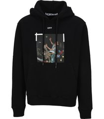 off white pascal printed hoodie