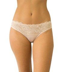 calcinha sonho com renda qtal lingerie básico bege