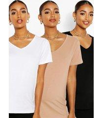 maternity 3 pack v-neck t-shirt, multi