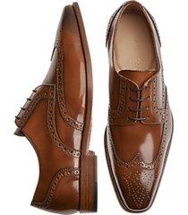 giovacchini scott gognac wingtip derby dress shoes