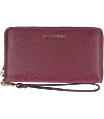 michael kors wristlets grain leather wallet