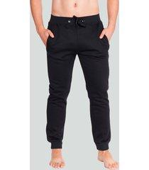 pantalon jogger franela negro baziani