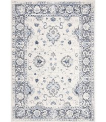 "safavieh harbor cream and blue 5'3"" x 7'6"" sisal weave area rug"