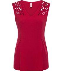 maglia con cut-out (rosso) - bodyflirt boutique