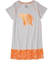 camicia da notte con cotone biologico (grigio) - bpc bonprix collection