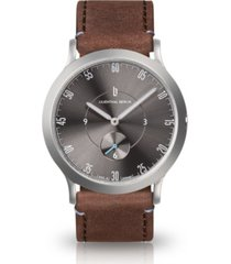 lilienthal berlin l1 gray leather watch 37mm
