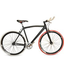 bicicleta urbana monoplato triple pared 700 - negra