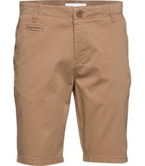 chuck regular chino shorts - gots/v shorts chinos shorts beige knowledge cotton apparel