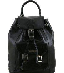 tuscany leather tl141342 kobe - zaino in pelle nero