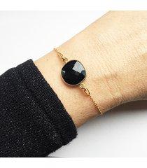 bransoletka z onyksem, czarny kamień