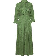 delicate button down gown maxiklänning festklänning grön by ti mo