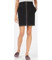 inc zip-front mini skirt, created for macy's