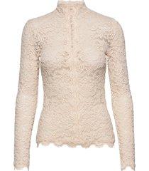 t-shirt ls blouse lange mouwen crème rosemunde