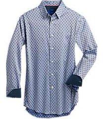 egara blue medallion slim fit sport shirt